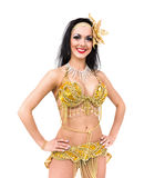 Sexy carnival dancer posing Royalty Free Stock Photo