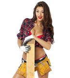 Sexy Carpenter Royalty Free Stock Photography