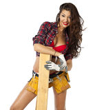 Sexy Carpenter Royalty Free Stock Photo