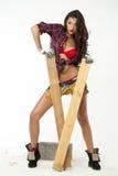 Sexy Carpenter Royalty Free Stock Photos