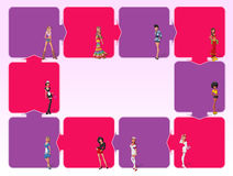 Sexy cartoon girls Royalty Free Stock Images