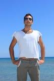 Sexy caucasian fit man Stock Photos
