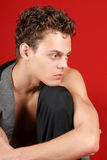 Sexy caucasian young man Stock Image