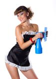 Sexy chambermaid Stock Photography