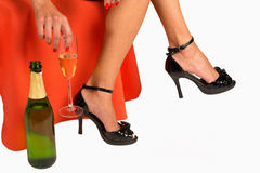 Sexy champagne Stock Image