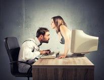 Sexy Chat Lizenzfreies Stockfoto