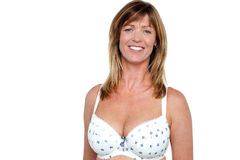 Sexy and cheerful top bikini model Royalty Free Stock Image
