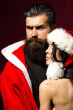Sexy christmas couple Royalty Free Stock Images