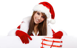 Sexy christmas girl Stock Image
