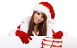 Sexy christmas girl Stock Image