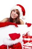 Sexy christmas girl Stock Photos