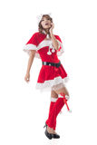 Sexy Christmas girl of Asian Royalty Free Stock Images