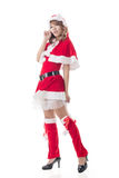 Sexy Christmas girl of Asian Stock Images