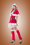 Sexy Christmas girl of Asian Royalty Free Stock Photo