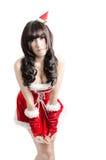christmas girl on white background Stock Images