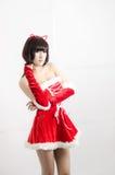 christmas girl on white background Stock Photos