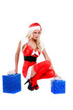 Sexy Christmas Helper Royalty Free Stock Photos