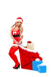 Sexy Christmas Helper Stock Photography