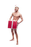 Sexy christmas man Stock Photo