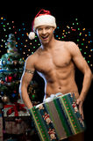 Sexy christmas man Stock Photography