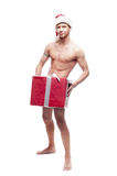 Sexy christmas man Royalty Free Stock Photography