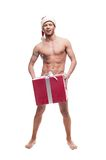 Sexy christmas man Royalty Free Stock Images