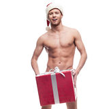 Sexy christmas man Royalty Free Stock Photo