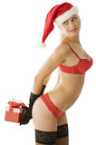 Sexy christmas in red Stock Photo