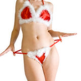 Sexy christmas stripper Royalty Free Stock Photography