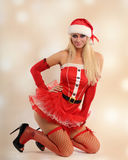 Sexy christmas woman Royalty Free Stock Photography