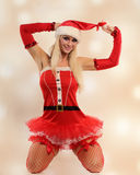 Sexy christmas woman Stock Images