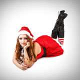 Sexy christmas woman Royalty Free Stock Images