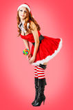 Sexy christmas young adult woman Royalty Free Stock Photo