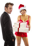 Sexy Christmas Royalty Free Stock Photo