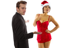 Sexy Christmas Stock Image