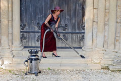 Sexy church woman cleaner Stock Images