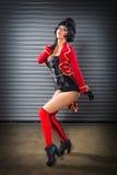 Sexy Circus Ringmaster Woman Royalty Free Stock Image