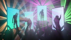 Sexy clubdansers stock videobeelden