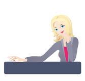 Sexy collega die bij u glimlacht Royalty-vrije Stock Afbeelding