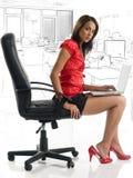 Sexy collegue Stock Photography