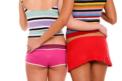 Sexy colorful backs Stock Images