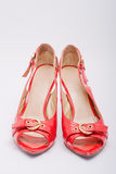 Comfortable shoes. Pair of comfortable women shoes stock photos