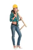 construction lady Stock Photography