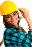 Sexy construction lady Stock Image