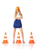 construction woman Royalty Free Stock Image