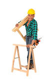 Sexy construction worker Royalty Free Stock Image