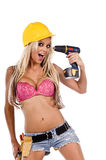 Sexy Construction Worker Close Up Stock Images