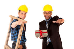 Sexy construction workers Stock Images