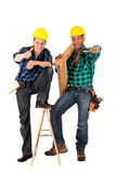 Sexy construction workers Royalty Free Stock Photo