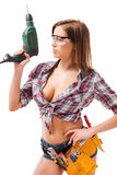 Sexy contractor. Royalty Free Stock Photos